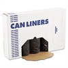 Low-Density Can Liners, 60gal, .65mil, 38 x 58, Black, 25 Bags/Roll, 4 Rolls/CT
