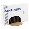 Low-Density Can Liners, 56gal, .60mil, 43 x 47, Black, 25 Bags/Roll, 4 Rolls/CT