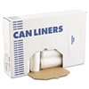 High-Density Can Liners, 44 gal, 12 mic, 37 x 50, Natural, 250/Carton
