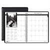 Monthly Planner w/Black-&-White Photos, 8-1/2 x 11, Black, 2016-2018