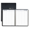 House of Doolittle Eight-Person Group Practice Daily Appointment Book, 8 x 11, Black, 2017