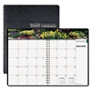 Gardens of the World Ruled Monthly Planner, 7 x 10, Black, 2017