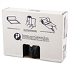 High-Density Can Liner, 43 x 48, 60gal, 16mic, Black, 25/Roll, 8 Rolls/Carton