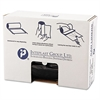 High-Density Can Liner, 43 x 46, 60gal, 19mic, Black, 25/Roll, 6 Rolls/Carton