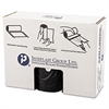 High-Density Can Liner, 38 x 58, 60gal, 19mic, Black, 25/Roll, 6 Rolls/Carton