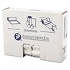 High-Density Can Liner, 30 x 37, 30gal, 10mic, Clear, 25/Roll, 20 Rolls/Carton
