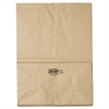 General 1/6 BBL Paper Grocery Bag, 57lb Kraft, Standard 12 x 7 x 17, 500 bags