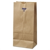 General #8 Paper Grocery Bag, 35lb Kraft, Standard 6 1/8 x 4 1/6 x 12 7/16, 500 bags
