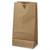 General #20 Paper Grocery Bag, 40lb Kraft, Standard 8 1/4 x 5 5/16 x 16 1/8, 500 bags
