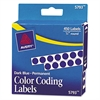 "Permanent Self-Adhesive Round Color-Coding Labels, 1/4"" dia, Dark Blue, 450/Pack"
