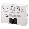 High-Density Can Liner, 40 x 48, 45gal, 12mic, Black, 25/Roll, 10 Rolls/Carton