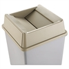 Rubbermaid Commercial Untouchable Square Swing Top Lid, Plastic, 20 1/8 x 20 1/8 x 6 1/4, Beige