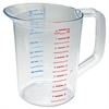 Rubbermaid Commercial Bouncer Measuring Cup, 2qt, Clear
