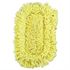 Trapper Looped-End Dust Mop Head, 12 x 5, Yellow, 12/Carton