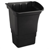 Rubbermaid Commercial Optional Utility Cart Refuse/Utility Bin, Rectangular, 8gal, Black