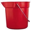 Rubbermaid Commercial BRUTE Round Utility Pail, 10qt, Red