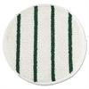 """Low Profile Scrub-Strip Carpet Bonnet, 19"""" Diameter, White/Green, 5/Carton"""