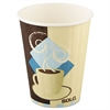 SOLO Cup Company Tuscan Café Insulated Paper Hot Cups, 12oz, White, 600/Carton