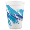 SOLO Cup Company Jazz Waxed Paper Cold Cups, 9oz, Tide Design, 100/Pack, 20 Packs/Carton