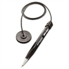 Wedgy Antimicrobial Coil Ballpoint Counter Pen with Round Base, Blue Ink, Medium