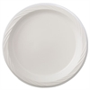 "Lightweight Plastic Dinnerware, Plate, 9"" dia, White, 125/Pack, 4 Packs/Carton"