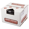 Repro Low-Density Can Liners, 1.5 Mil, 38 x 58, Black, 10 Bags/Roll, 10 Rolls/CT