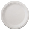 "Classic Paper Dinnerware, Plate, 9 3/4"" dia, White, 125/Pack, 4 Packs/Carton"