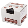 Jaguar Plastics Repro Low-Density Can Liners, 2 Mil, 40 x 46, Black, 100/Carton