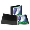 "Samsill Clean Touch Locking Round Ring View Binder, Antimicrobial, 2"" Cap, Black"
