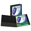 "Samsill Clean Touch Locking Round Ring View Binder, Antimicrobial, 1"" Cap, Black"