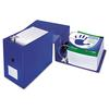 "Samsill Clean Touch Locking D-Ring Reference Binder, Antimicrobial, 6"" Cap, Blue"