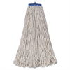 Boardwalk Mop Head, Economical Lie-Flat Head, Cotton Fiber, 32oz, White, 12/Carton