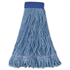 Mop Head, Super Loop Head, Cotton/Synthetic Fiber, X-Large, Blue, 12/Carton