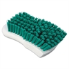 "Scrub Brush, Green Polypropylene Fill, 6"" Long, White"
