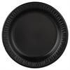 """Quiet Classic Laminated Foam Dinnerware, Plate, 9"""" dia, Black, 125/Pk, 4 Pks/Ctn"""