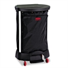 Rubbermaid Commercial Premium Step-On Linen Hamper Bag, 13 3/8w x 19 7/8d x 29 1/4h, Nylon, Black