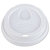 Dixie Dome Drink-Thru Lids, Fits 12-16oz Paper Hot Cups, White, 1000/Carton