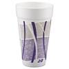 Impulse Hot/Cold Foam Cups, 20oz, Printed, Purple/Gray, 25/Bag, 20 Bags/Carton