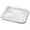 Steam Table Pan Foil Lid, Fits Half-Size Pan, 10 7/16 x 12 1/5