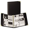 Samsill Classic Vinyl Business Card Binder, 200 Card Cap, 2 x 3 1/2 Cards, Ebony