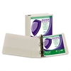 "Samsill Clean Touch Locking Round Ring View Binder, Antimicrobial, 3"" Cap, White"