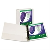 "Clean Touch Locking D-Ring View Binder, Antimicrobial, 1 1/2"" Cap, White"