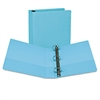 "Fashion View Binder, Round Ring, 11 x 8-1/2, 2"" Capacity, Turquoise, 2/Pack"