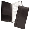 Samsill Regal Leather Business Card File, 96 Card Cap, 2 x 3 1/2 Cards, Black