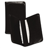 Samsill Regal Leather Business Card Wallet, 25 Card Cap, 2 x 3 1/2 Cards, Black