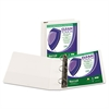 "Clean Touch Locking D-Ring View Binder, Antimicrobial, 2"" Cap, White"