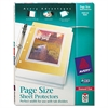 Top-Load Poly 3-Hole Punched Sheet Protectors, Letter, Diamond Clear, 50/Box