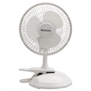 "Holmes 6"" Convertible Clip/Desk Fan, 2 Speed, White"