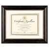 Genova Document Frame with Mat, 11 x 14, 8 1/2 x 11, Plastic, Black
