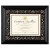 DAX Florence Document Frame with Mat, Black, Plastic, 11 x 14, 8 1/2 x 11